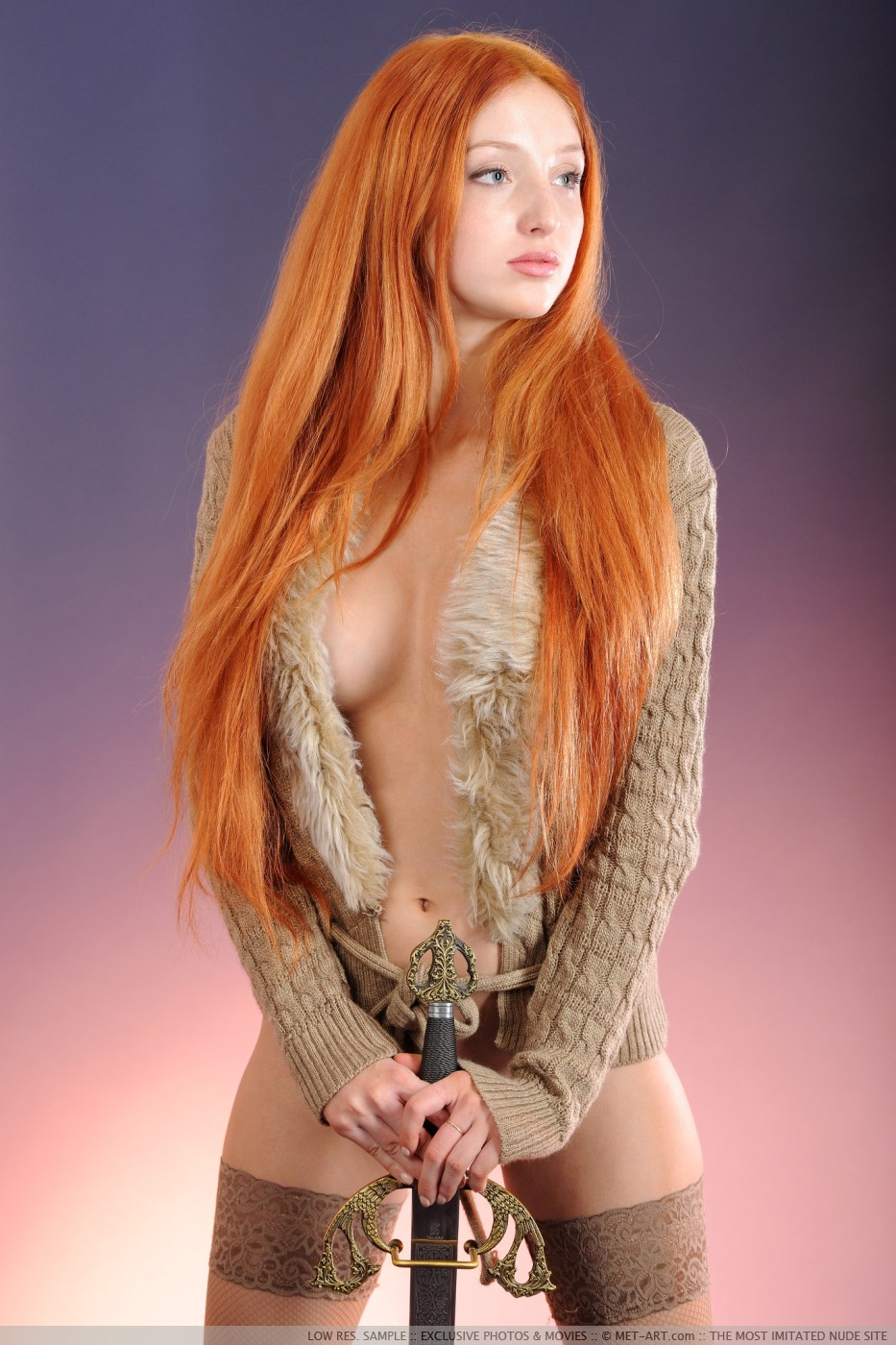 Nude redhead warrior erotic homemade angel